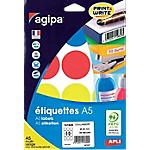 Pastilles adhésives APLI A5 Assortiment 84 étiquettes   84