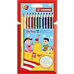 Crayons de couleur STABILO Pastelli Trio Maxi Assortiment   12