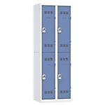 Vestiaires Multicases Pierre Henry 2 colonnes 60 (L) x 50 (l) x 180 (H) cm Gris, bleu