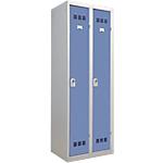 Vestiaire Industrie Propre Pierre Henry 2 colonnes 60 (L) x 50 (l) x 180 (H) cm Gris, bleu