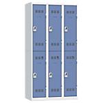 Vestiaires Multicases Pierre Henry 3 colonnes 90 (L) x 50 (l) x 180 (H) cm Gris, bleu