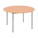 Table ronde Sodematub Cafétéria 74 cm Hêtre