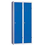 Vestiaire Industrie Salissante monobloc 2 colonnes 80 (L) x 50 (l) x 180 (H) cm Bleu