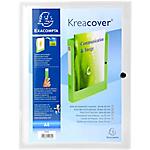 Boites de classement à pression Exacompta Krea Cover 40 mm   Transparent