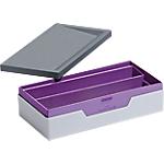 Boîte de rangement DURABLE VARICOLOR SMART OFFICE 6,2 (H) x 12,2 (l) x 23,5 (P) cm Gris, violet