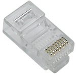 Fiches Ethernet OMENEX RJ45 mâle Transparent