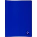 Protège documents soudé Exacompta Opaque Polypro 20 Pochettes A4 Bleu
