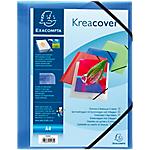 Chemise 3 rabats à élastique Exacompta Krea Cover A4 Bleu