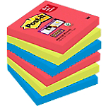 Notes repositionnables Post it 7,6 (H) x 12,7 (L) cm Assorti   4 blocs + 1 gratuit