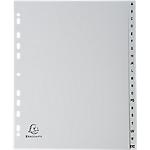 Intercalaires à touches imprimées Exacompta A4 20 intercalaires Gris   20