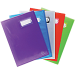 Protège documents soudé Exacompta Crystal Polypro 40 pochettes A4 Assortiment