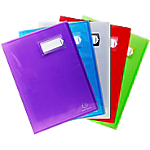 Protège documents soudé Exacompta Crystal Polypro 20 pochettes A4 Assortiment   6