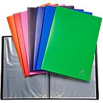 Protège documents soudé Exacompta Opaque Polypro 50 pochettes A4 Assortiment   10 Unités