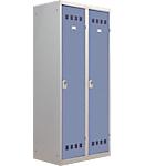 Vestiaire Industrie Salissante Pierre Henry 2 colonnes 80 (L) x 50 (l) x 180 (H) cm Gris, bleu