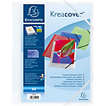 Chemise 3 rabats à élastique Exacompta Krea Cover A4 Blanc