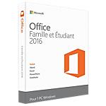 Logiciel bureautique Microsoft Office Famille et Etudiant 2016