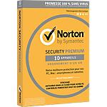 Logiciel Antivirus Symantec Norton Security 2016 Premium   1 an