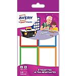 Étiquettes Avery 44 (H) x 64 (l) mm multicolores 16 étiquettes
