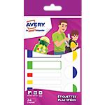 Étiquettes plastifiées Avery 860 (H) mm Blanc 24 étiquettes   24