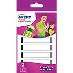 Etiquettes plastifiées Avery Smart 17 (H) x 86 (l) mm Gris   24