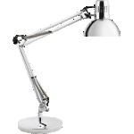 Lampe de bureau Fluorescent Alba Archi CH Argenté