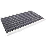 Tapis intérieur Floortex Alumat 39 (H) x 60 (l) cm Gris