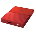 Disque dur externe 2.5 po WD My Passport 1 To Rouge