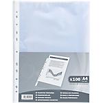 Pochettes perforées Exacompta A4 Transparent   100