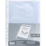 Pochettes perforées Exacompta transparentes  100/Paquet