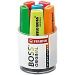 6 surligneurs   Stabilo Boss   Pot   Assortiment