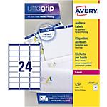 100 Feuilles d'étiquettes adresses Laser L7159   Avery   24