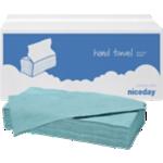 Essuie-mains Niceday 1 épaisseur Pliage en V Bleu - 20 Unités de 250 Feuilles
