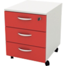 Caisson mobiles Color 3 tiroirs - Office depot