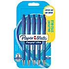 5 Stylos   Paper Mate   Flexgrip Ultra rétractable bleus