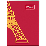 Carnet ligné Oberthur A7 Eiffel Tower 96 Pages 80 g