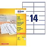 100 Feuilles d'étiquettes blanches pour copieur   Avery   105 x 39 mm