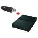 Disque dur 1To + Clé USB 16 Go - Office depot