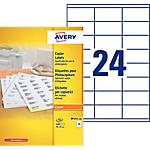 100 Feuilles d'étiquettes blanches pour copieur   Avery   35 x 70 mm