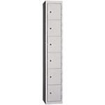 Vestiaire de bureau monobloc EVP 6 cases 30 (L) x 50 (l) x 180 (H) cm Gris