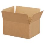 20 caisses américaines   simple cannelure   L.42 x l.30 x H.20 cm   brun