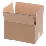 20 caisses américaines   simple cannelure   L.21 x l.17 x H.11 cm   brun