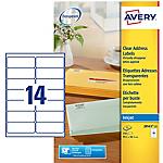 350 Etiquettes invisibles jet d'encre   Avery   99,1 x 38,1 mm