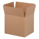 20 caisses américaines   simple cannelure   L.60 x l.50 x H.50 cm   brun