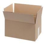 20 caisses américaines   simple cannelure   L.30 x l.21 x H.15 cm   brun
