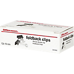 Boite de 12 pinces à dessin double clip   Office DEPOT   19 mm