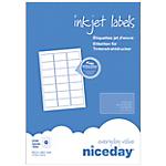 100 Feuilles A4 adresse coins arrondis   Niceday   (21 étiquettes par feuille)   Jet d'encre 63,5 x 38,1 mm