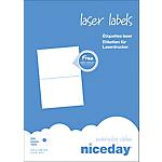 Étiquettes d'adresses 2 étiquettes par feuille niceday 210 (H) x 148 (l) mm Blanc   200