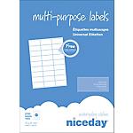 Étiquettes multifonctions Niceday 980455 Blanc 2700 étiquettes   100 feuilles de 27 étiquettes