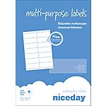 100 feuilles étiquettes adresses multifonctions   105x39mm   14 étiquettes par feuille A4   1400 étiquettes
