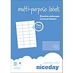 100 feuilles étiquettes adresses multifonctions   70x36mm   24 étiquettes par feuille A4   2400 étiquettes